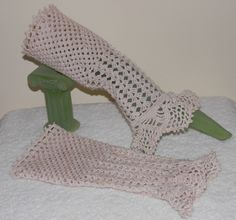 Hand Crocheted Victorian Lace Wrist-lets