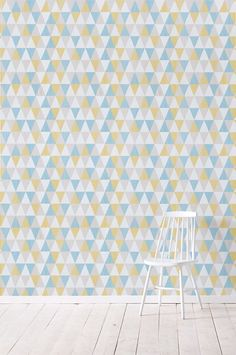 Wallpaper by ellos Tapet Bonnie petrol. Retro Tapet, Creative Office Space, Teenage Room, Attic Rooms, Home Wallpaper, Color Themes, Cute Wallpapers, House Colors, Mid-century Modern