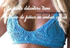 Cómo tejer el brasier de la bikini crochet Bikini Crochet Patron, Bikinis Crochet, Crochet Top, Crochet Hats, Boho Style Dresses, Barbie, Festival Wear, Swimsuits, Swimwear
