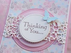 handmade thinking of you card using Stampin' Up! So Detailed dies, Falling in Love dsp, Thoughts & Prayers, & Papillion Pot Pourri stamps & Sticthed Shapes & Layering Circles dies. By Di Barnes #colourmehappy #2017 Occasions Catalogue