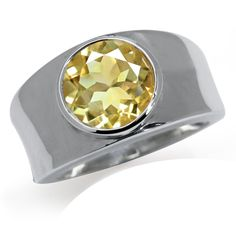 3.4ct. Natural Citrine 925 Sterling Silver Modern Solitaire Ring Size 8. 3.4ct. Natural Citrine 925 Sterling Silver Modern Solitaire Ring.