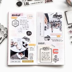 The end of the year is quickly approaching. It's amazing how time passes so quickly each year and we're going into 2019 in just a few… Bullet Art, Bullet Journal Art, Bullet Journal Inspiration, Bullet Journals, Bullet Pics, Diy Mini Album, Mini Albums, Journal Diary, Journal Notebook