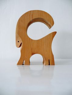 Wooden Goat / vintage / 80s / #swedish design by Pracownia11, $30.00  #ikea #sweden #scandinavian