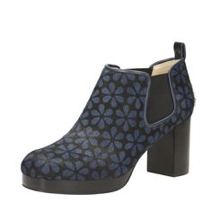 Orla Kiely: The Orla Audrey is a leather ankle boot with 6.5cm heel, offering a subtle and distinctive incline. The shoes' elasticated panels also make getting them on and off easy, whilst their interiors are smooth and well-fitted. Cushion Plus technology aids the foot's natural movements and reduces pain and strain. Wear them with trousers for a smart look.