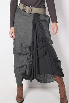 layered skirt, love the fabrics and drape