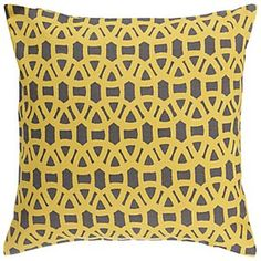 Scion Lace Cushion, Yellow / Grey