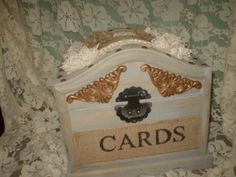 Wedding Card  HolderChest by HighlandCottageArts on Etsy, $59.00