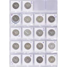 Colección 18 monedas de plata EEUU 1/2 Dollar Liberty., Tienda Numismatica y Filatelia Lopez, compra venta de monedas oro y plata, sellos españa, accesorios Leuchtturm