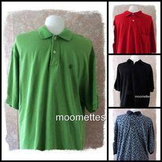 Lot 4 Mens Izod Puritan Starter Short Sleeve Golf Polo Shirts XL Extra Large #Mixed #PoloRugbyGolf