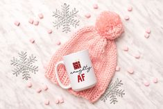 Naughty AF Mug, Funny Christmas Mug, Christmas Mug by SweetSipsShop on Etsy