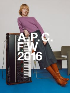 A.P.C. WINTER 2016. LAURA HAGESTED SHOT BY COCO CAPITAN.