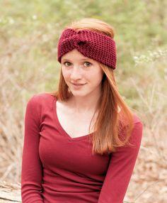Knitted Headband Ear warmer Chunky Knit WideTurban by slouchiehats, $19.00
