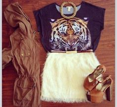#style #outfit #tiger   MASQUERADE | via Tumblr