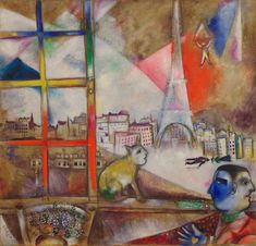 Paris through the Window by Marc Chagall, 1913, Guggenheim Museum Size: 136x141.9 cm Medium: Oil on canvas Solomon R. Guggenheim Museum, New York Solomon R. Guggenheim Founding Collection, By gift ©...