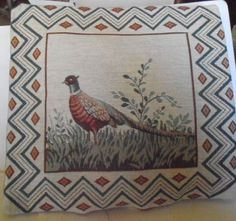 Tapestry Pheasant Throw Pillow by tjmccarty on Etsy
