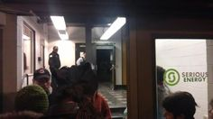 2/23 7:56 from outside to inside. Chicago Police Department inside. (Photo from Micah)