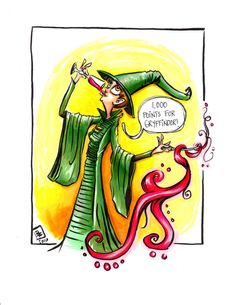 Description: The Thirsty Witch Mrs McGonagall - imagined from the Film and Book series Harry Potter written by J.K. Rowlings An 8.5 in by 11 Giclee print of a digital illustration completed by Billi French This art piece was hand drawn using a Pentel Pocket Brush with color added using copic markers  Printing: Final print is printed on art quality Hammermill Digital cover 80 lb Paper using an Epson SureColor P400 Photo Printer  Shipping Details: Prints are shipped in a flat rigid cardboard…