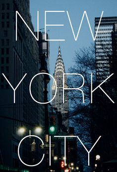 <3 New York City.
