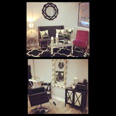 Hair salon Decor, Ideas & colors. Amarie's Hair Studio. Chicago