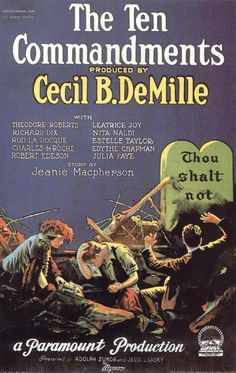 """The Ten Commandments"" directed by Cecil B. DeMille / 2nd grossing film in 1923."
