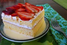 Traditional 3 Leches Cake. Mexican Dessert!