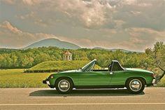 Green Porsche 914 Sautee