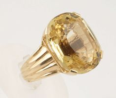 Stunning Faceted Citrine Ring