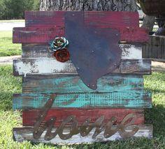 Rustic Handmade Texas Home Wall Hanging  www.gugonline.com
