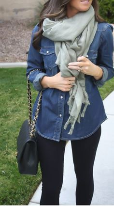 69 trendy how to wear denim shirt outfits casual Fall Winter Outfits, Winter Dresses, Autumn Winter Fashion, Dress Winter, Winter Wear, Look Fashion, Fashion Outfits, Womens Fashion, Fashion Trends