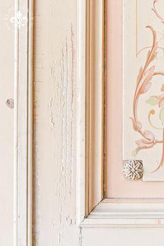 Incredible pair of handpainted French Interior doors.