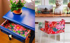 Confira no blog idéias incríveis para você usar o tecido chita, decoração, dicas de decoração, chita na decoração