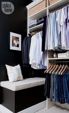 58 new ideas for master closet bench wall colors Master Closet, Walk In Closet, Closet Redo, Closet Remodel, Closet Space, Closet Ideas, Closet Bench, Creative Closets, Home Design Decor