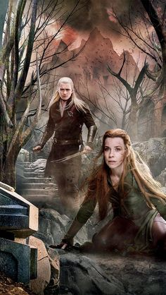 Bieber-beater and the Elf maiden. Does anyone else think Tauriel looks like a different person? pic.twitter.com/uoR9nqt8yz