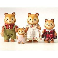 Sylvanian Families Panda Family (Red): Amazon.co.uk: Toys & Games
