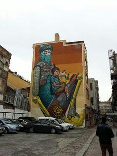 Street art in Kadıköy Istanbul Turkey