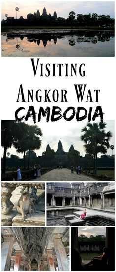 *Pin For Later* Adventures at Angkor Wat, Cambodia. Angkor Wat is one of the most famous wonders of the world, and is definitely worth visiting. Such a stunning temple, you feel as though you're walking through a movie set!