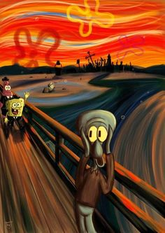 SpongeBob Vs. Munch by Donna Mae