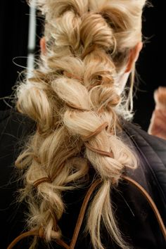 """Braid for Val the wildling  """"Backstage @ Michael Kors, Fall 2012"""""""