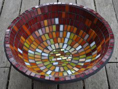 Create this stunning mosaic bowl with step by step instructions. Perfect for beginners, this bowl is made with a selection of glass tiles th...