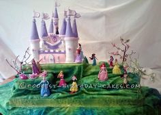 Coolest Castle Cake for a Little Princess ...This website is the Pinterest of birthday cakes