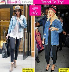 how to dress like Miranda Kerr and Rihanna...