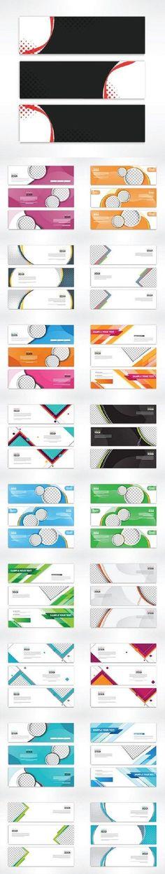 Horizontal web banner design