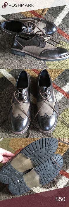 "Men's Robert Wayne shoes Style is ""Atlas"" Oxford, wingtip shoe Canvas and leather shoe Robert Wayne Shoes Oxfords & Derbys"