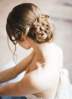 Messy braided chignon: http://www.stylemepretty.com/little-black-book-blog/2015/04/21/butterfly-ballet-boudoir-session/ | Photography: Archetype - http://archetypestudioinc.com/