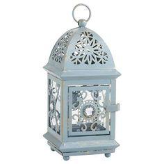Blue Jeweled Mini Lantern