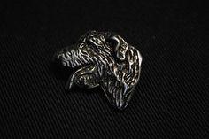 Irish Wolfhound head dog pin limited edition by ArtDogshopcenter
