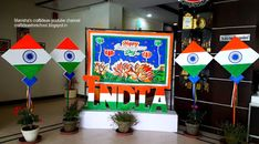 Manisha Chaudhary craftideas :Art ,Craft ideas and bulletin boards for elementary schools: Independence Day Decoration idea Reception d. Independence Day Drawing, Independence Day Photos, 15 August Independence Day, Independence Day Decoration, India Independence, Soft Board Decoration, School Board Decoration, Class Decoration, School Decorations