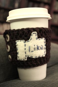 Crocheted Coffee Sleeve Patterns {FREE!!} @Louise Goode you need this!