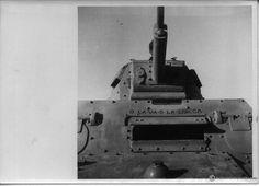 Italian tank north Africa - note the script