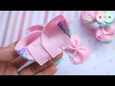 Amazing Ribbon Bow - Hand Embroidery Works - Ribbon Tricks & Easy Making Tutorial - Free Online Videos Best Movies TV shows - Faceclips Ribbon Hair Bows, Diy Hair Bows, Diy Ribbon, Ribbon Flower Tutorial, Hair Bow Tutorial, Embroidery Works, Hand Embroidery Designs, Boutique Hair Bows, Making Hair Bows
